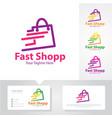 fast shop logo designs vector image vector image