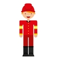 firefighter man profession icon vector image vector image