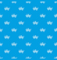 fireworks pattern seamless blue vector image