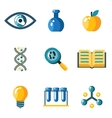 Flat science education research study web icons vector image vector image
