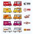 Food trucks set vector image