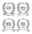 hand draw badges collection vector image vector image