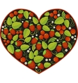 heart with traditional russian pattern Khokhloma vector image vector image