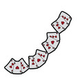 hearts suit french playing cards icon image vector image vector image