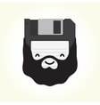 Hipster floppy disk vector image vector image