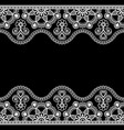 indian mehndi henna line lace border element with vector image vector image