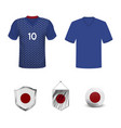 japan soccer jersey vector image vector image