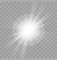 light rays flash sun star radiance shine effect vector image vector image