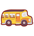 line color vehicle school bus education vector image vector image