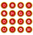 loading bars and preloaders icon red circle set vector image