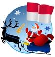 Merry Christmas Monaco vector image vector image