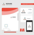 networks business logo file cover visiting card vector image