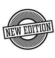 new edition stamp vector image vector image
