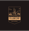 old faithful yellowstone national park patch vector image vector image