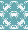 pattern with crabs 2 vector image vector image
