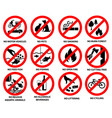 prohibition sign for public park vector image vector image