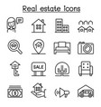 real estate icon set in thin line style vector image vector image