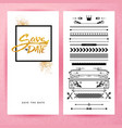 rectangular save the date stationery image vector image vector image