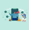 referral marketing affiliate program partnership vector image vector image