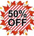 Sale 50 percents off vector image