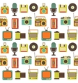 Seamless Pattern with Retro technology vector image vector image