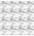 Seamless sea pattern with hand drawn whales vector image vector image