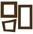 Set of Different Wooden Frames vector image vector image