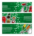 Set of Horizontal Banners about farm vector image vector image
