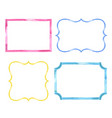 set of watercolor color vintage frames vector image vector image