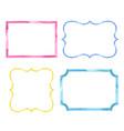 set watercolor color vintage frames vector image vector image
