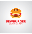 sewburger logo vector image vector image