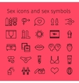 Sex icons in line style vector image vector image