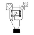 technology app cartoon vector image vector image