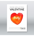 Template layout invitation valentine holiday vector image vector image