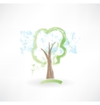 Tree grunge icon vector image vector image