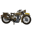 Vintage sand motorcycle vector image vector image