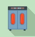 wardrobe oven factory icon flat style vector image vector image