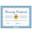 warranty certificate template frame blank vector image vector image