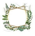 wedding herbal frame vector image vector image
