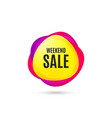 weekend sale special offer price sign vector image vector image