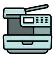 xerox printer icon outline style vector image vector image