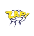 Zap With Lightnings Comic Speech Bubble vector image vector image