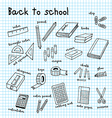 back to school doodle drawing vector image