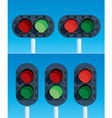 railway traffic lights vector image