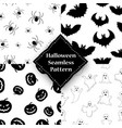 ghost pumpkin spider and bat seamless pattern vector image