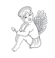 Valentine s Day character Angel with bow and vector image