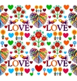 Bright floral romantic seamless pattern Birds in vector image