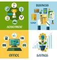 Flat concept of business office achievement vector image