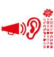 listen sound icon with lovely bonus vector image