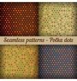 Polka dots Set of seamless patterns Abstract vector image